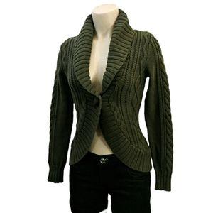 Eddie bauer knit cotton button front sweater XS